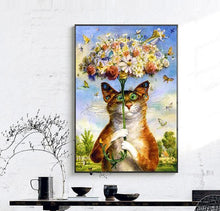 Quirky Cat Cross Stitch Embroidery Kit