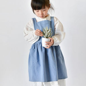 Kids Washed Cotton Apron