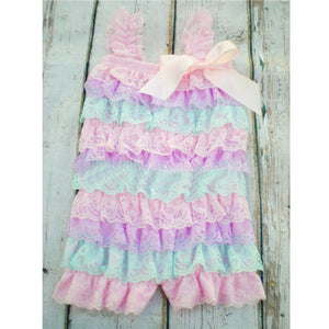 Baby Girls Ruffly Lace Romper