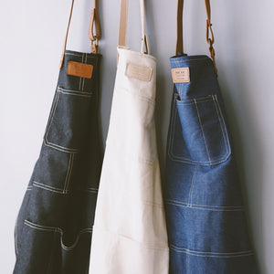 Leather and Denim Apron