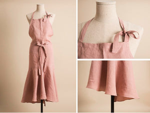 Gorgeous Frilled Linen Apron