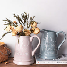 French Country Ceramic Pitcher Vases