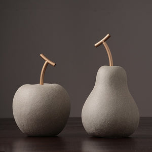 Minimalist Apple & Pear Modern Ceramics
