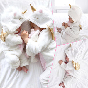 Snuggly Flannel Unicorn Onesies