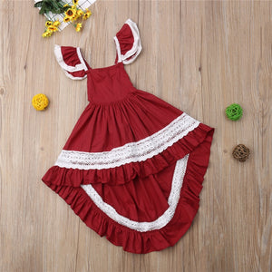 Girl Ruffly Lace Dress