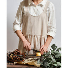 Washed cotton linen Kitchen Apron