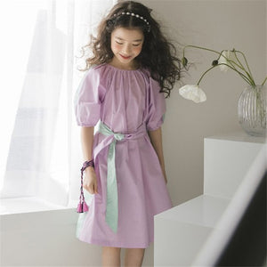 Girls Color Block Dress