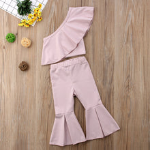 Ruffle Top and Bell Bottom Pants