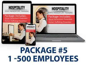 CA - Hospitality Bundle Package #5 (1-500 Employees) - myCEcourse