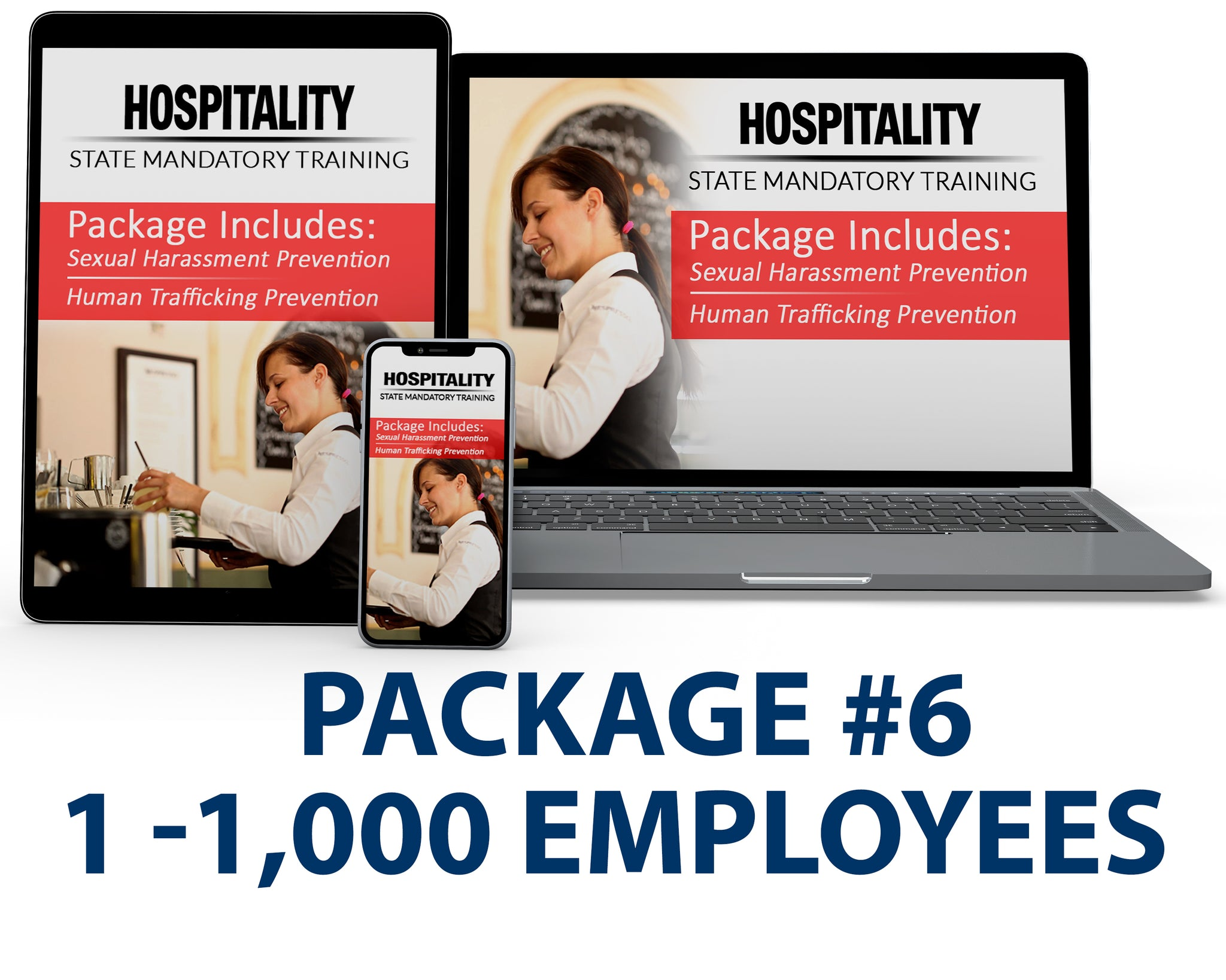 CA - Hospitality Bundle Package #6 (1-1,000 Employees) - myCEcourse