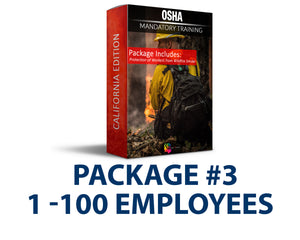CAL/OSHA Emergency Wildfire Smoke Safety Training Package #3 (1-100 Employees) - myCEcourse