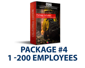 CAL/OSHA Emergency Wildfire Smoke Safety Training Package #4 (1-200 Employees) - myCEcourse