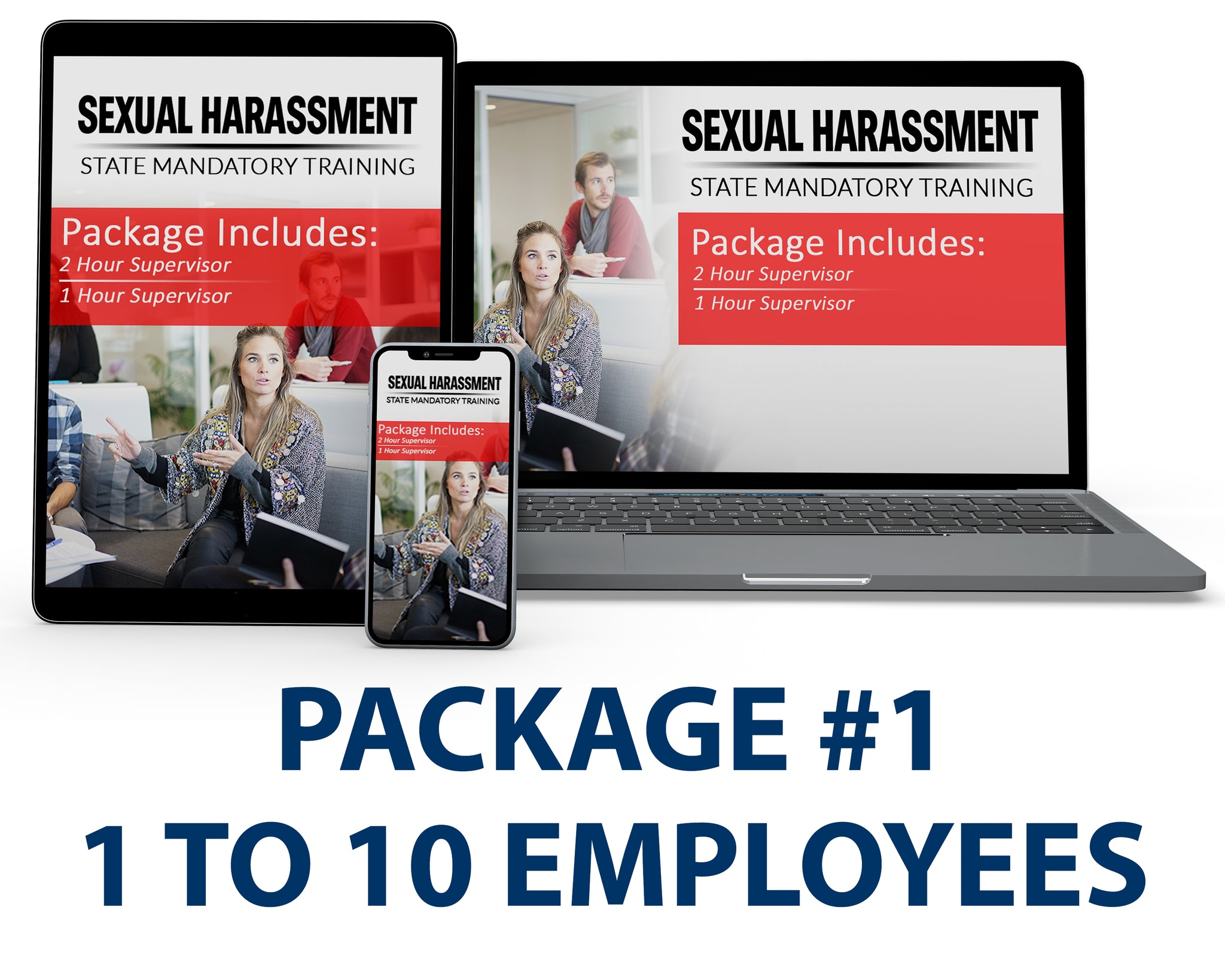 Multi-State Harassment Prevention Training Package #1 (1-10 Employees) PCMMS