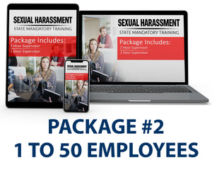 Multi-State Harassment Prevention Training Package #2 (1-50 Employees) PCMMS - myCEcourse