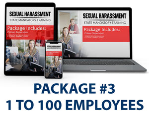 Multi-State Harassment Prevention Training Package #3 (1-100 Employees) PCMMS