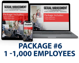 Multi-State Harassment Prevention Training Package #6 (1-1,000 Employees) - myCEcourse