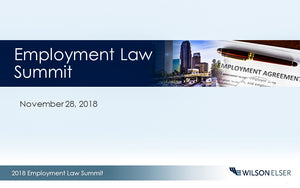 2018 Employment Law Summit by Wilson Elser - myCEcourse