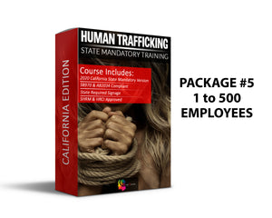 PCMMS - CA - Human Trafficking Prevention Training Package #5 (1-500 Employees) - myCEcourse