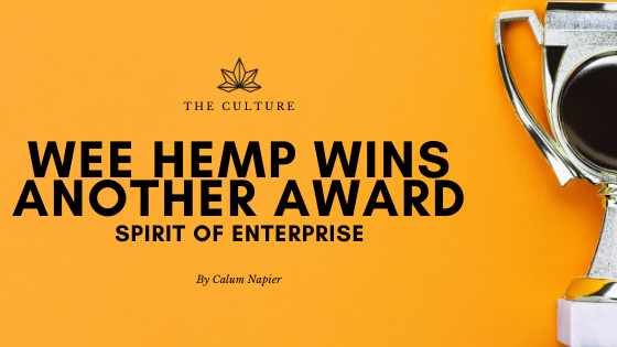 The Wee Hemp Company wins Elevator UK Award for Spirit of Enterprise