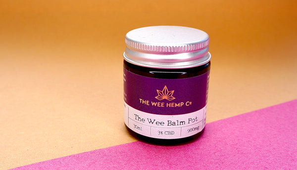 The Wee Balm Pot - Full Spectrum CBD Balm 3% CBD, al natural ingredients | The Wee Hemp Company, The multi award winning CBD company | CBD Oil Shop | Cannabidiol drops | Aberdeen & Aberdeenshire | Scotland's most trusted CBD company