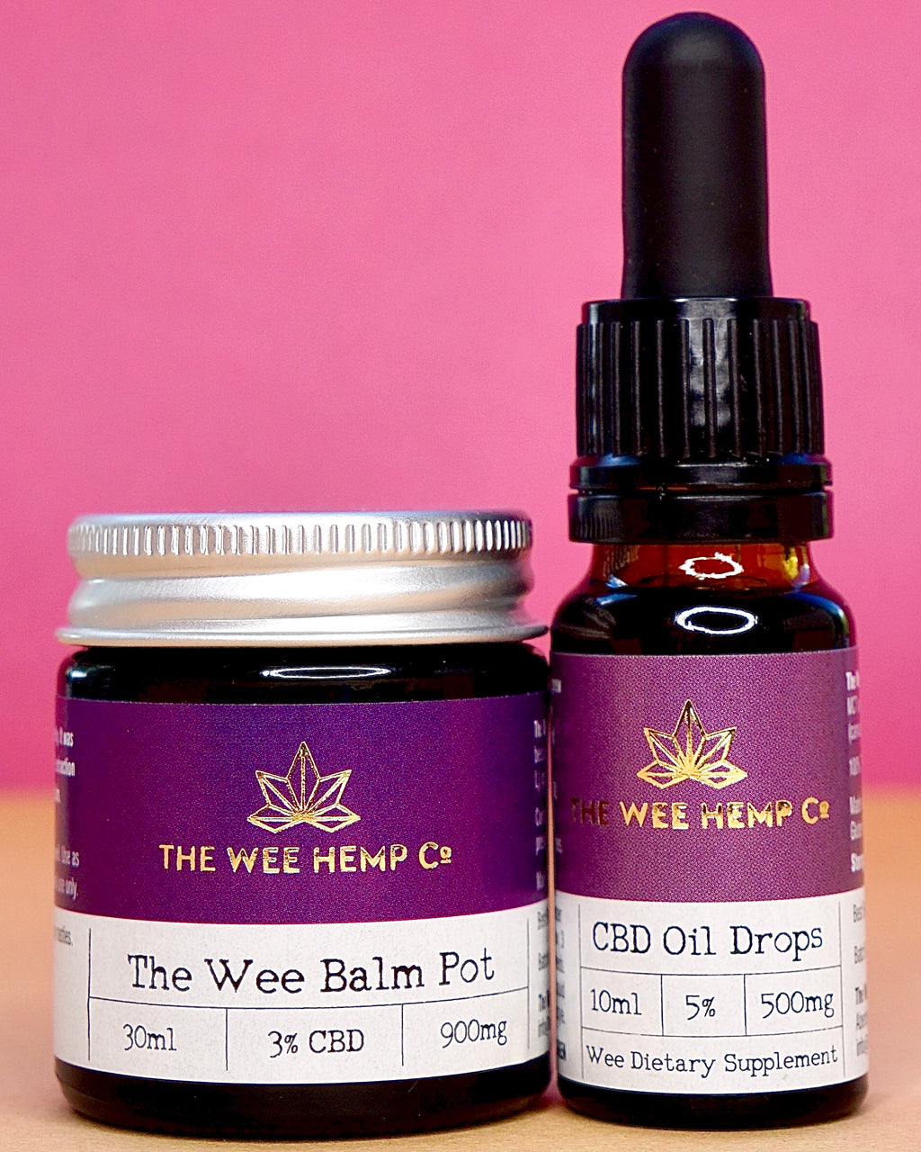 The Wee Combo - The Wee Balm Pot & Oral Supplement Pack The Wee Balm Pot & 5%, 500mg Broad Spectrum CBD Drops & The Wee Balm Pot, 3% 300mg Full Spectrum Balm, All natural ingredients The Wee Hemp Company CBD Oil Shop | Wee Hemp CBD Oil Shop | Scotland's multi award winning CBD company | CBD Oil Shop | Cannabidiol drops | Aberdeen & Aberdeenshire | CBD Oil, CBD Balm, CBD Vapes E-liquid, CBD Cream, CBD Full Spectrum CBD Oil, Broad Spectrum CBD Oil, 3rd party lab tested CBD Oil