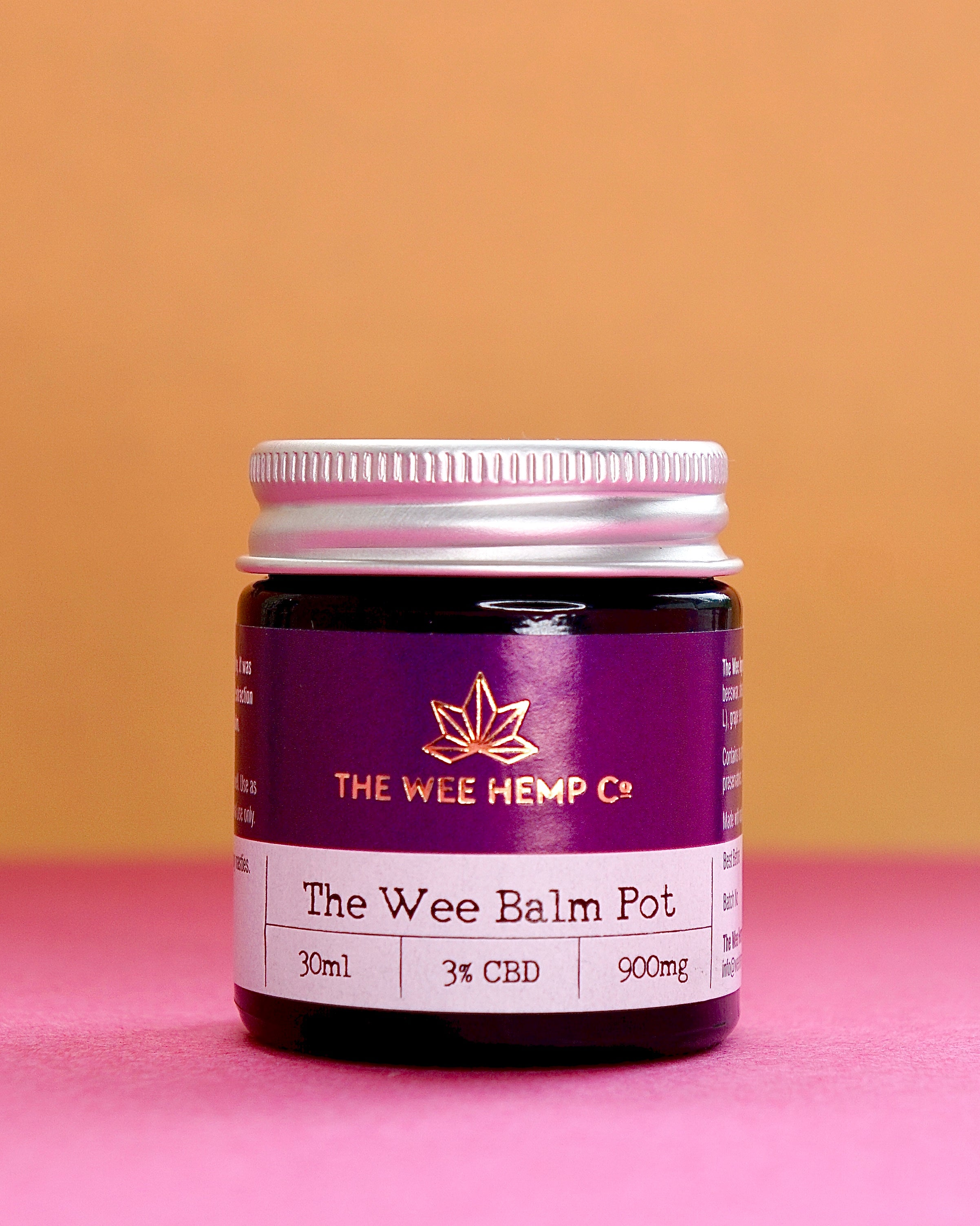 The Wee Balm Pot - 3% CBD | 900mg - Whole Plant Extract, Full Spectrum Balm The Wee Hemp Company CBD Oil Shop | Wee Hemp CBD Oil Shop | Scotland's multi award winning CBD company | CBD Oil Shop | Cannabidiol drops | Aberdeen & Aberdeenshire | CBD Oil, CBD Balm, CBD Vapes E-liquid, CBD Cream, CBD Full Spectrum CBD Oil, Broad Spectrum CBD Oil, 3rd party lab tested CBD Oil