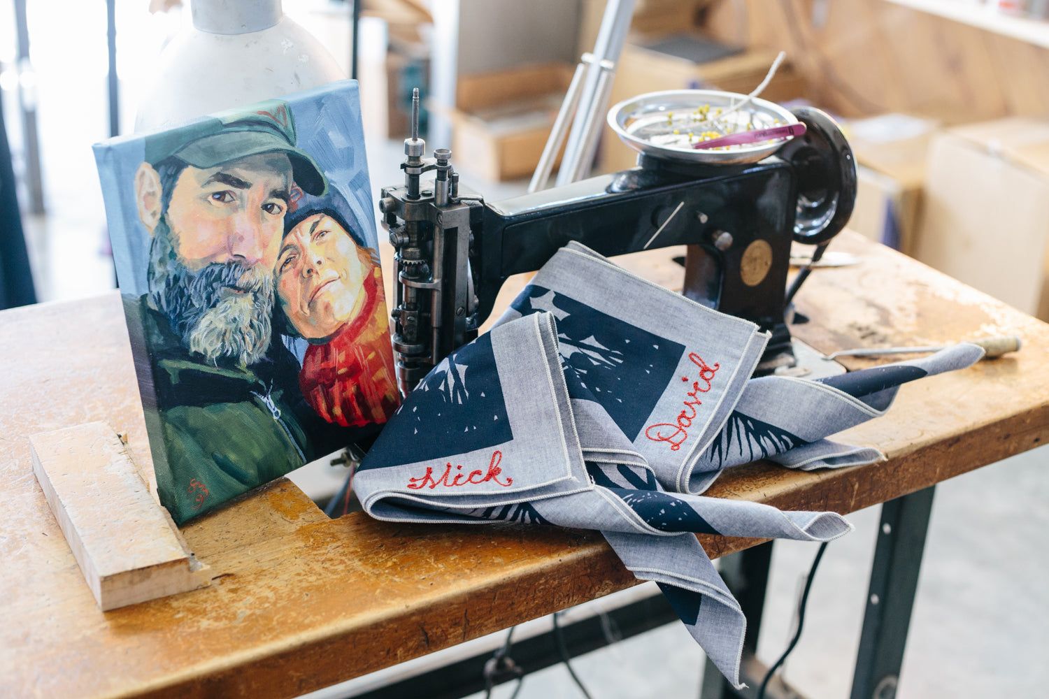 Couple's Portrait + Bandana Valentine's Gift Package