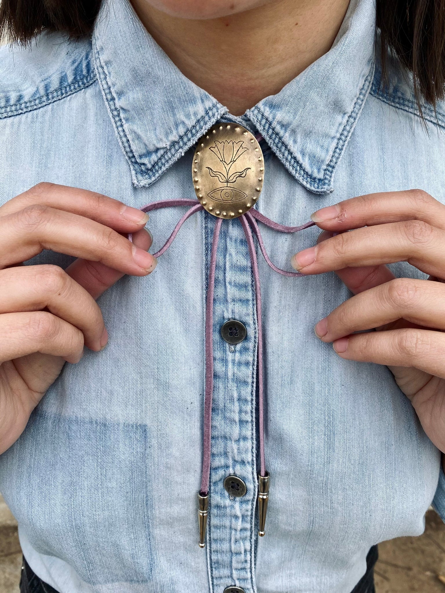 Claire Sommers Buck x Fort Lonesome DREAMLAND Bolo Tie