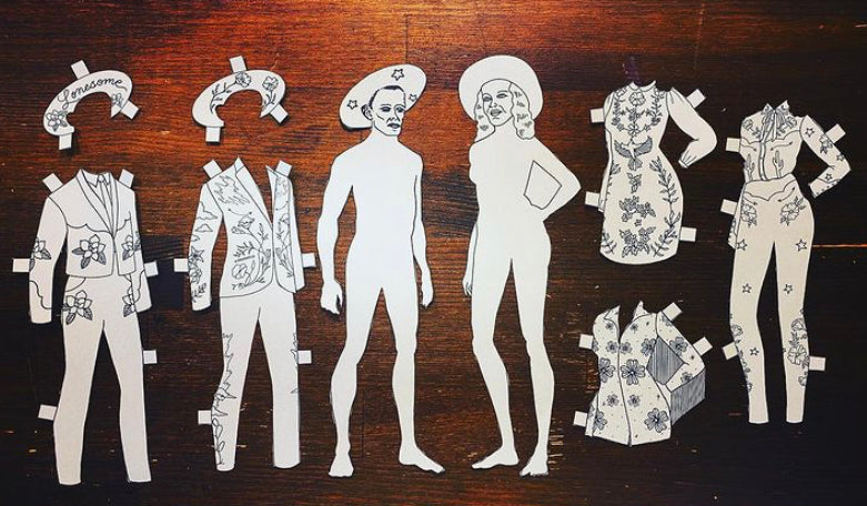 Fort Lonesome Coloring Book + Paper Dolls