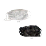 Iridescent Rhinestone Fashion Face Mask