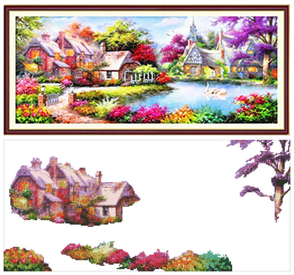DIY Diamond Painting - Colorful Cottage - The Dome Inc