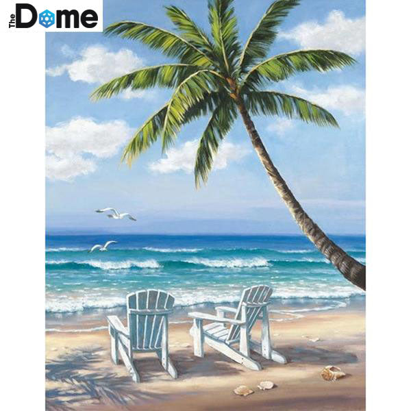 DIY Diamond Painting - Calm Beach - The Dome Inc.
