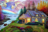 DIY Diamond Painting - Rainbow Mountainside - The Dome Inc