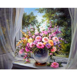 DIY Diamond Painting - Flowers on the Sill - The Dome Inc.