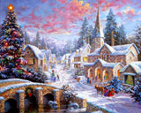 DIY Diamond Painting - Christmas Town(SQUARE)