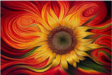 DIY Diamond Painting - Abstract Sunflower - The Dome Inc.