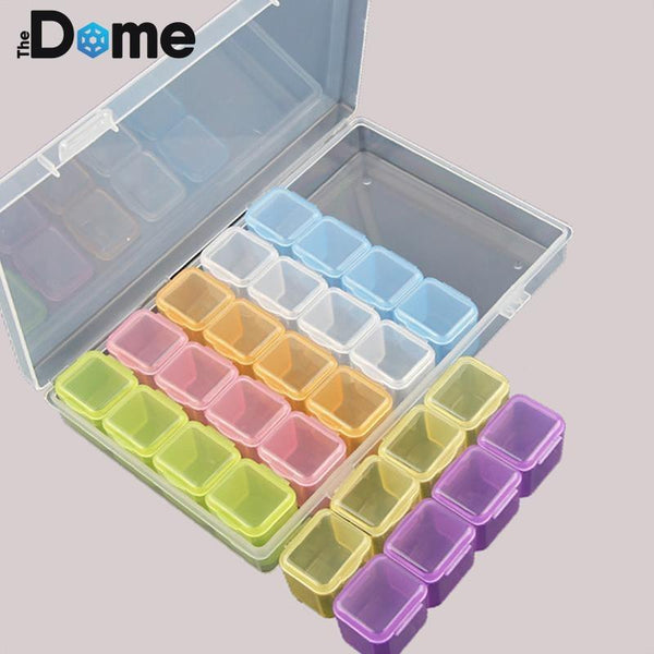 Bead Storage Box with 28 Containers - The Dome Inc.