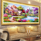 DIY Diamond Painting - Colorful Cottage - The Dome Inc.