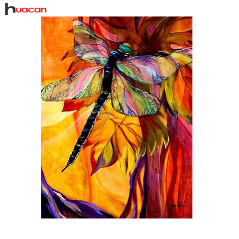 DIY Diamond Painting - Colorful Dragonfly - The Dome Inc