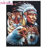 DIY Diamond Painting - Indian Spirit - The Dome Inc