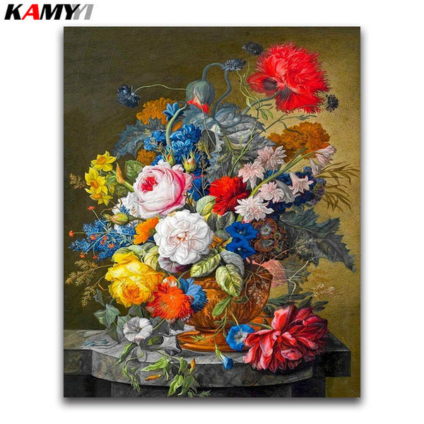 DIY Diamond Painting - Bucket Flowers 14