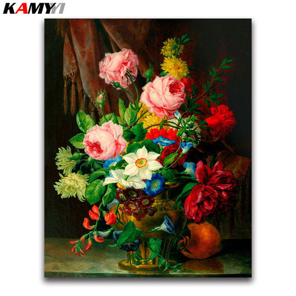 DIY Diamond Painting - Bucket Flowers 7