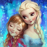 DIY Diamond Painting - Elsa with a Friend from Frozen2(Round) - The Dome Inc