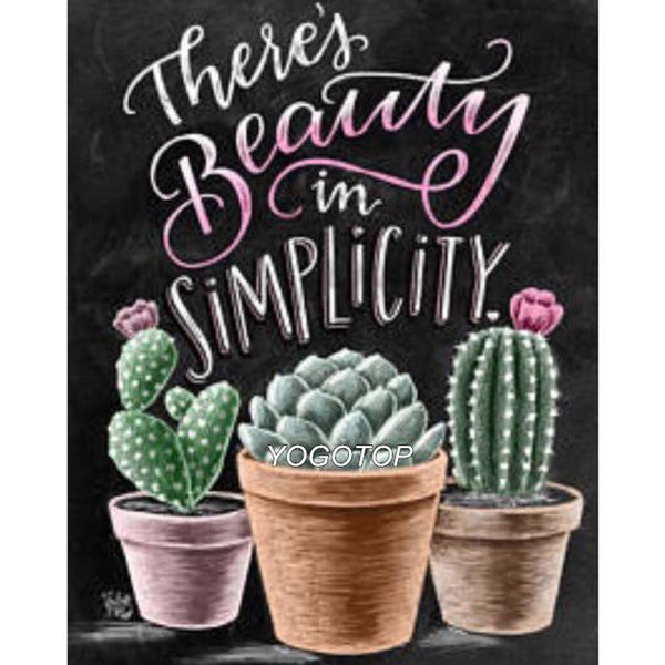 DIY Diamond Painting - Cactus Blackboard 1