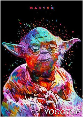 DIY Diamond Painting - Star Wars Yoda - The Dome Inc