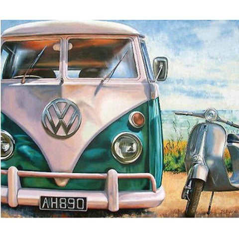 DIY Diamond Painting - Old VW - The Dome Inc