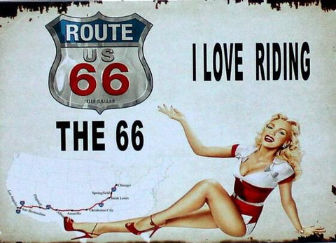 DIY Diamond Painting - Old American Posters Route 66