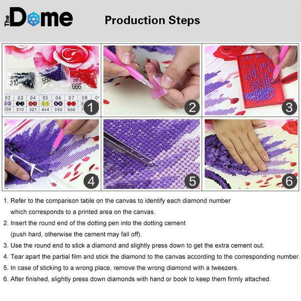 DIY Diamond Painting - Cartoon Princess RISE - The Dome Inc
