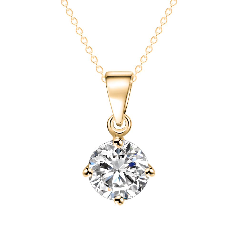 Zirconia Jewelry Silver/Gold Pendant Necklace