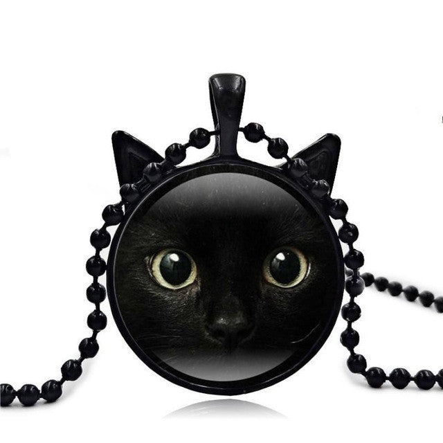 Cute Cat Face Necklace